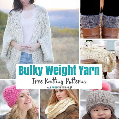 50 Free Knitting Patterns Made with Bulky Weight Yarn