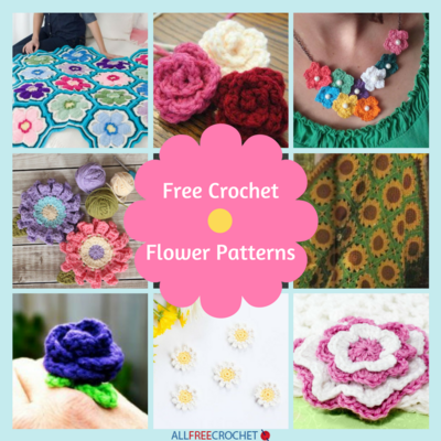 29 Free Crochet Flower Patterns  Crochet Flower Pattern Video
