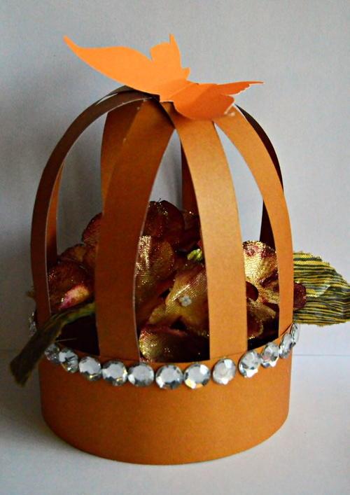 Allfreepapercrafts Com: Paper Birdcage DIY Fall Decoration