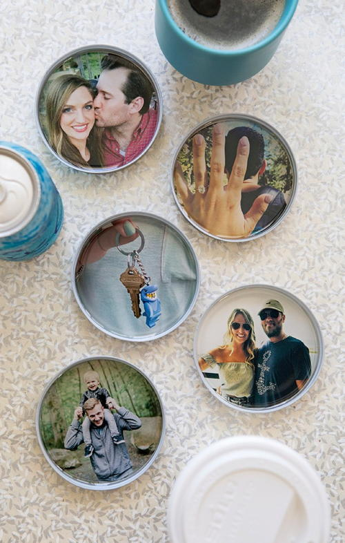 Romantic DIY Photo Coasters