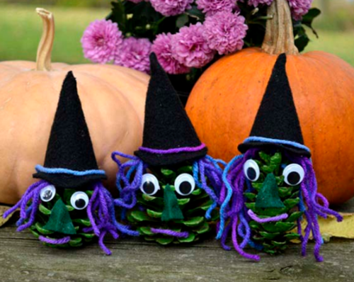 Pine Cone Wicked Witch Crafts