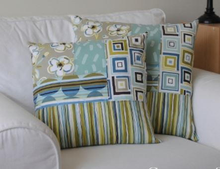 Quarter Log Cabin Pillow Covers