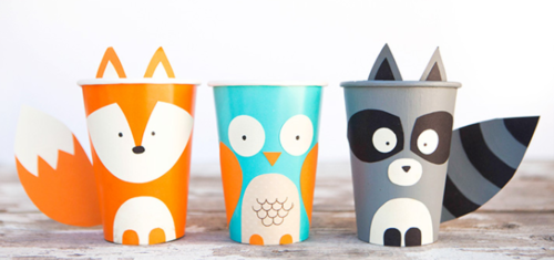 Paper Cup Forest Animal Crafts