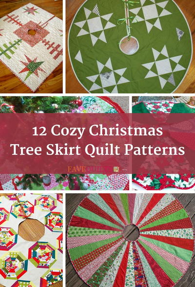 12 Cozy Christmas Tree Skirt Quilt Patterns Favequilts Com