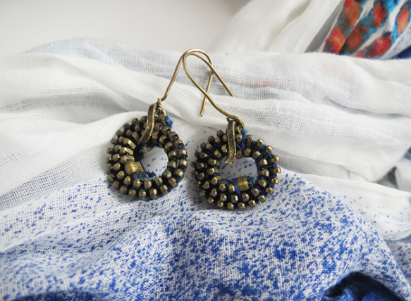 Denim DIY Zipper Earrings