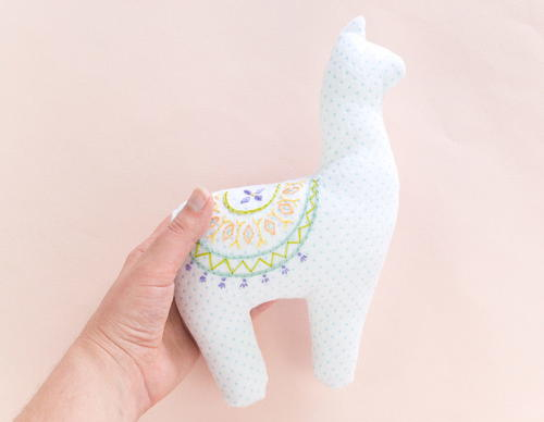 Embroidered Alpaca DIY Plushie