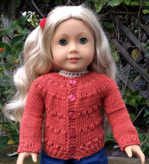 American Girl Eyelet Doll Sweater