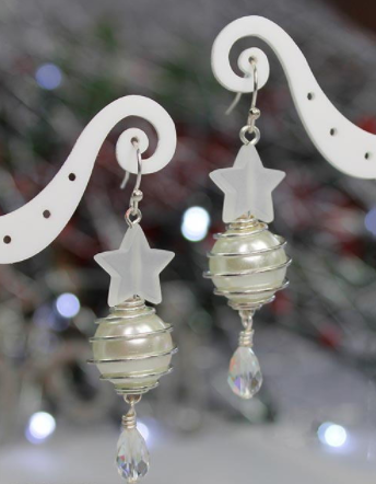 White as Snow DIY Earrings