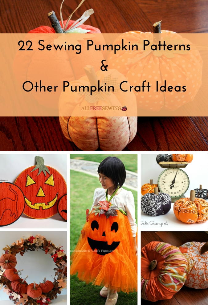 holloween craft ideas 22 sewing pumpkin patterns amp other pumpkin craft ideas 2188