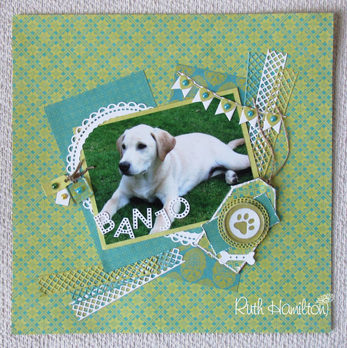 Paws-itively Adorable Dog Scrapbook Page