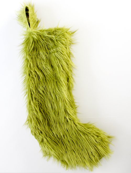 Grinch Inspired Christmas Stocking Pattern