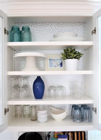 How To Add Wallpaper To Kitchen Cabinets Diyideacenter Com