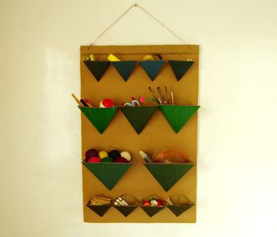 Triangular DIY Craft Storage
