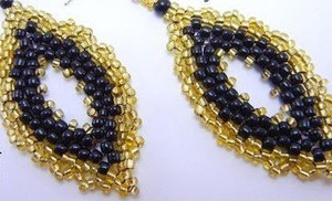 Yellow Royal Peyote Stitch Earrings