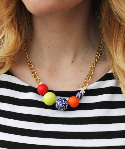 Super Simple Beaded DIY Statement Necklace ...