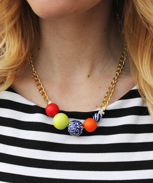 Super Simple Beaded DIY Statement Necklace