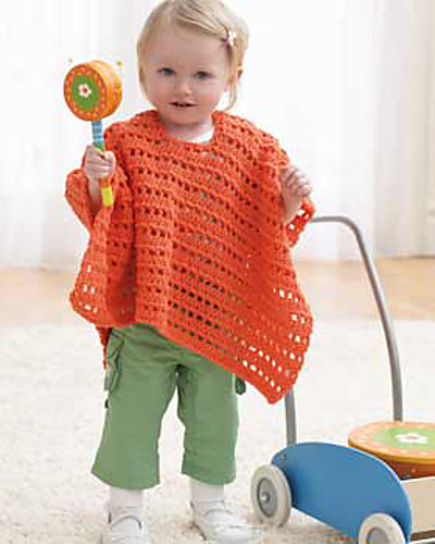 Orange Baby Poncho