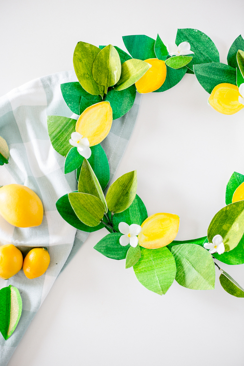 Bright Lemon Wreath