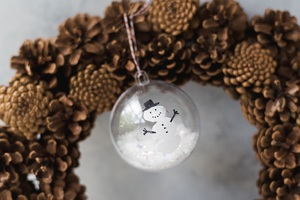 Three Finger Snowman Ornament