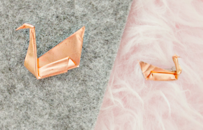 Elegant Copper DIY Origami Brooch