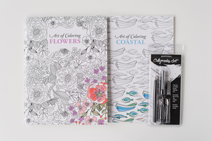 Calligraphy Set and Adult Coloring Book Giveaway