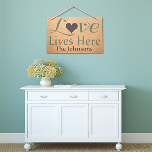 "Jumbo ""Love Lives Here"" Home Decor Stencil Set Giveaway"
