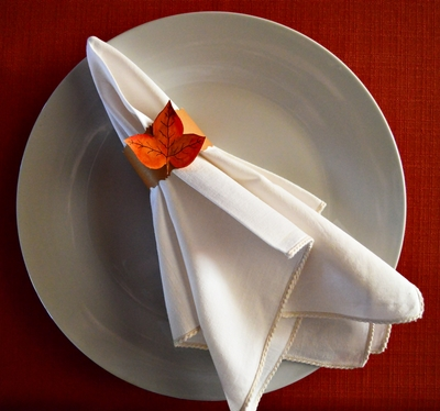 Easy Fall Entertaining Serviette Ring