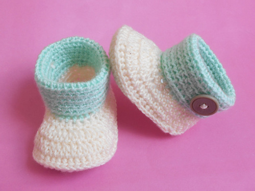 baby cuffed booties