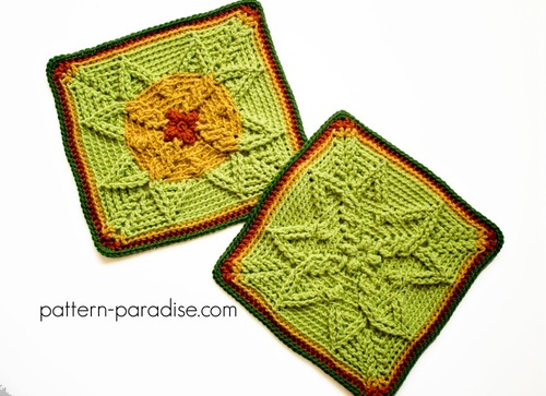 Autumn Sun Afghan Square