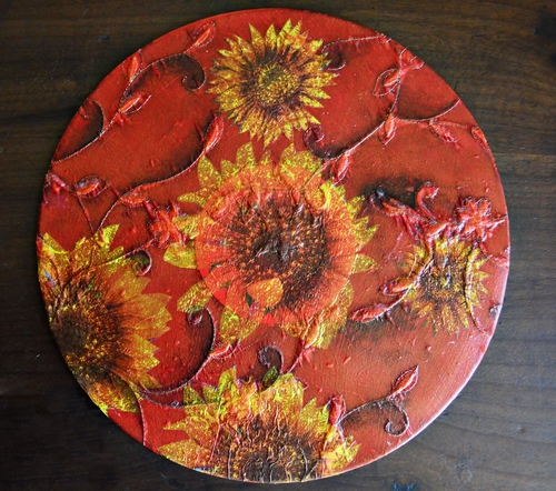 Fall Sunflower DIY Charger Plates