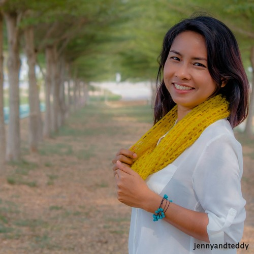 The Weekend Mesh Lace Cowl for Beginner