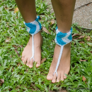 Simple Chevron Barefoot Sandal