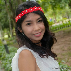 Beginner Beaded Crochet Flower Headband