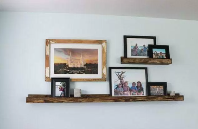 Wooden DIY Picture Shelf