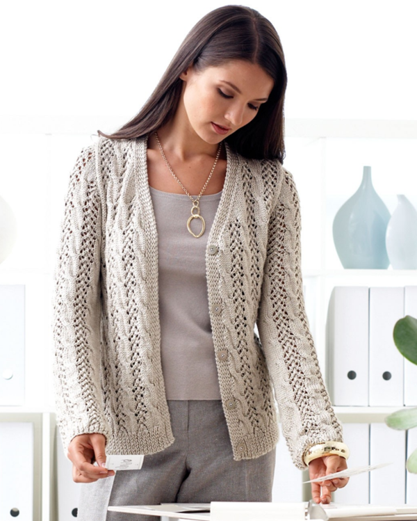 Lovely Lacy Cable Cardigan