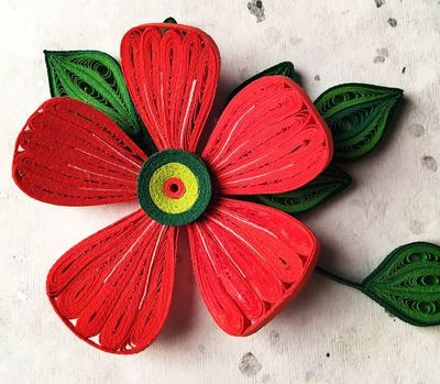 Bright Quilled Flower