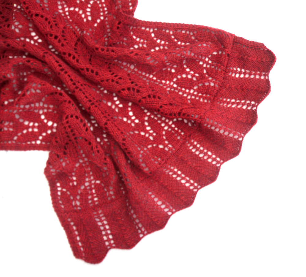 Red Lace Shawl Allfreeknitting Com