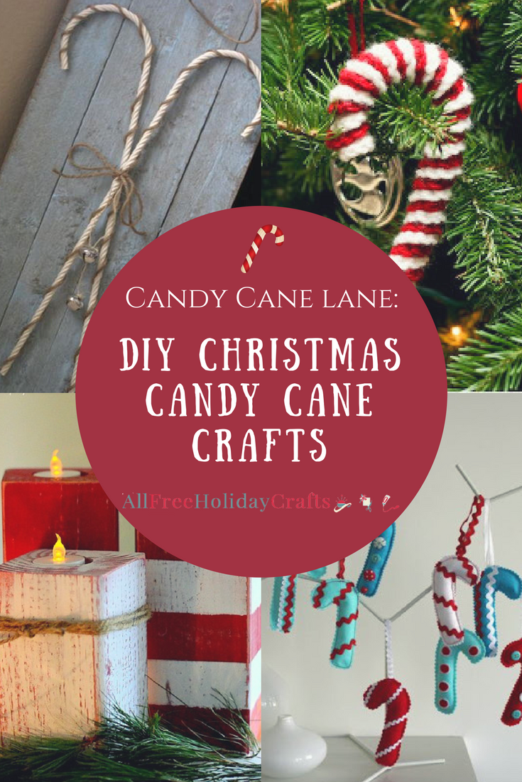 Easter Candy Eggs: Candy Cane Lane: 28 DIY Christmas Candy Cane Crafts