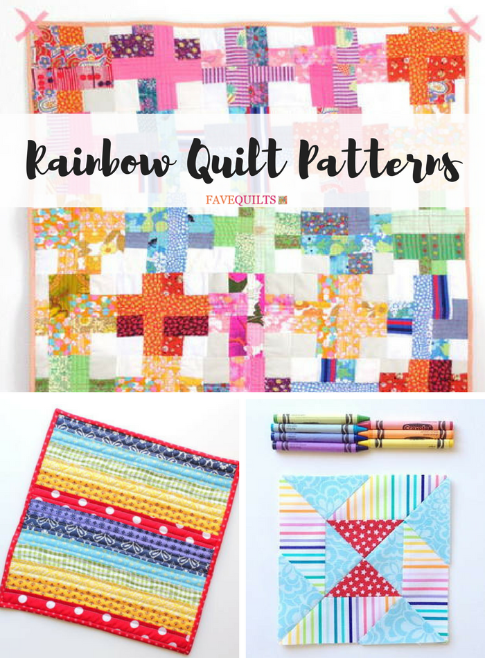 Colorful Quilt Tutorials 33 Rainbow Quilt Patterns