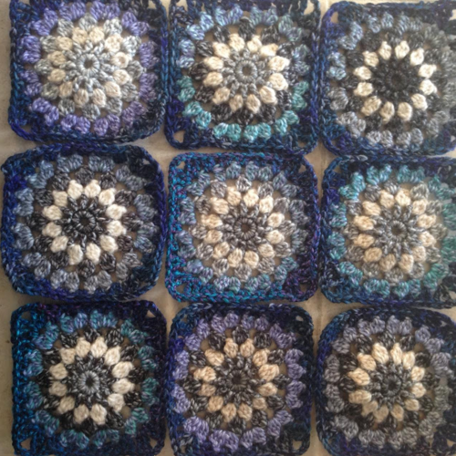Deep Blue Granny Square Afghan Pattern