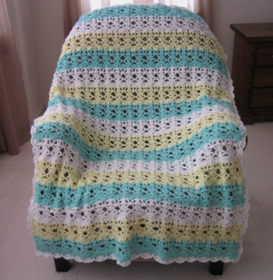Springtime Lace Easy Crochet Blanket