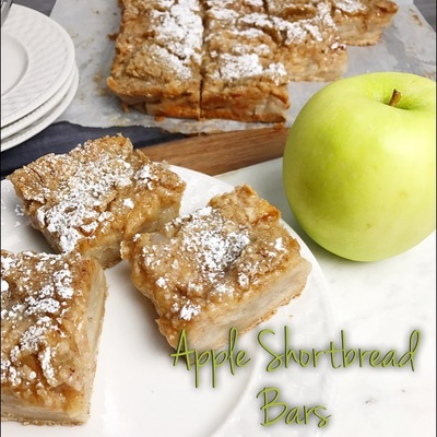 Apple Pie Shortbread Bars