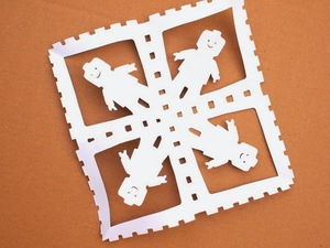 Cut Out Lego Snowflakes
