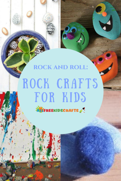 Rock and Roll Rock Crafts for Kids