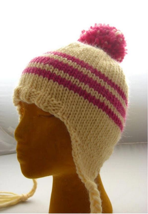 Loom Knit Baby Hat With Ear Flaps : Tried and true ear flap hat allfreeknitting