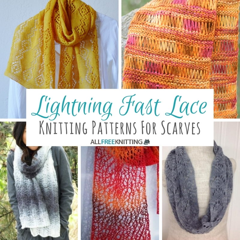 33+ Knitting Patterns for Scarves: Lightning Fast Lace ...