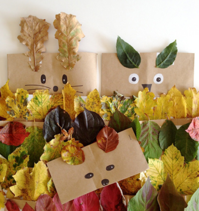 Fall Leaf Crowns and Animal Masks