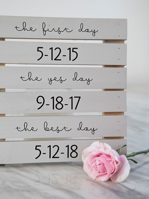 Custom DIY Wooden Wedding Signs