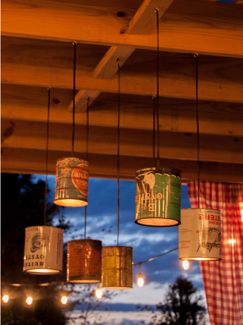 Outdoor Patio Lighting Using Tin Cans
