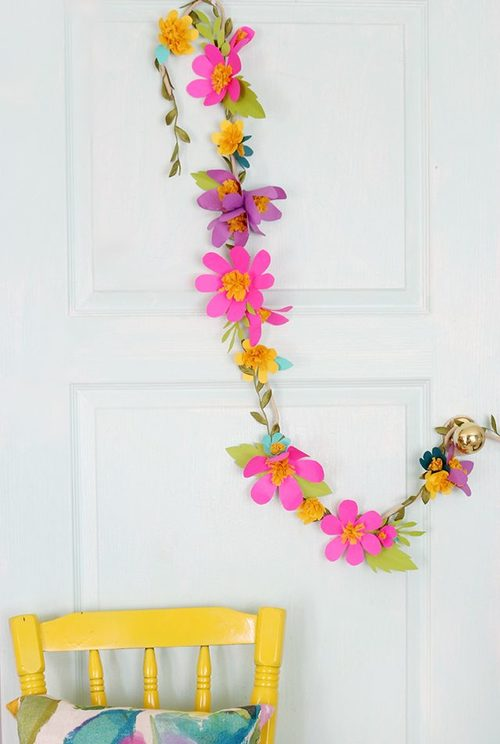 Pretty Paper Flower Garland